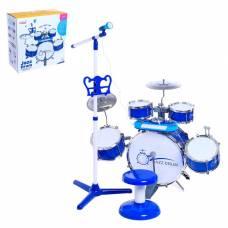 Барабанная установка «Настоящий барабанщик» с пианино, стульчиком, микрофоном Sima-Land