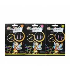 Набор светящихся аксессуаров Glow - Сережки и заколка  Junfa Toys