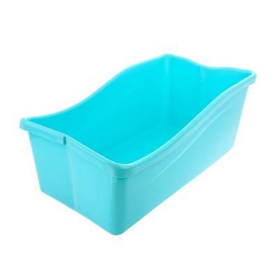 Ванночка детская складная, со сливом, цвет голубой Sima-Land