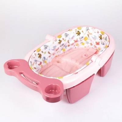 Ванночка для купания складная, цвет розовый Sima-Land