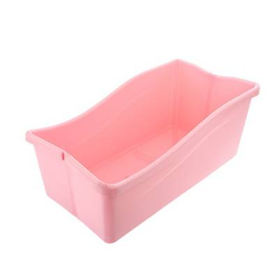 Ванночка детская складная, со сливом, цвет розовый Sima-Land