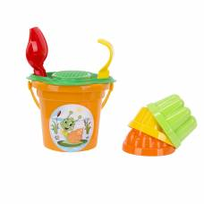 Набор для игры в песочнице № 26, с оранжевым ведерком, 7 предметов Полесье