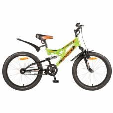 Двухколесный велосипед Shark, зеленый Novatrack