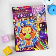 Витражная картина серии «GLITTER DECOR» Сова Данко Тойс / Danko Toys