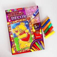 Набор креативного творчества «Витражная картина» серии «GLITTER DECOR» Мишутка Данко Тойс / Danko Toys