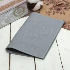 Обложка для паспорта «Герб», флотер, цвет серый Sima-Land