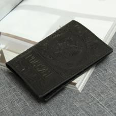 Обложка для паспорта «Герб», цвет чёрный First Steps