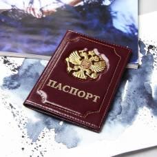 Обложка для паспорта «Герб», цвет бордовый Sima-Land