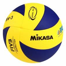 Мяч волейбольный Mikasa SV-3, размер 5, PU, бутиловая камера, машинная сшивка Mikasa