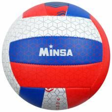 Мяч волейбольный MINSA «РОССИЯ», размер 5, 260 г, 2 подслоя, 18 панелей, PVC, бутиловая камера  MINSA