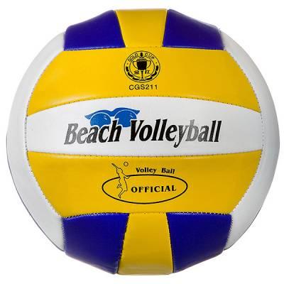 Волейбольный мяч Beach Volleyball, двухслойный, желто-синий