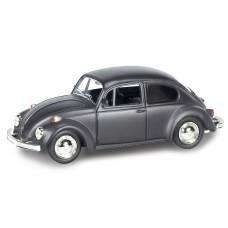 Инерционная коллекционная машинка Volkswagen Beetle 1967, черная, 1:32 RMZ City