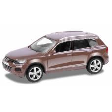 Металлическая инерционная машинка Volkswagen Touareg, коричневая, 1:32 RMZ City