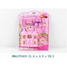 Замок для кукол Sweet Family с мебелью Shantou