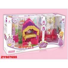 Замок для кукол Fashion с мебелью и куклой Shantou