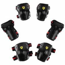 Защита роликовая FERRARI, р. L, цвет черный Ferrari