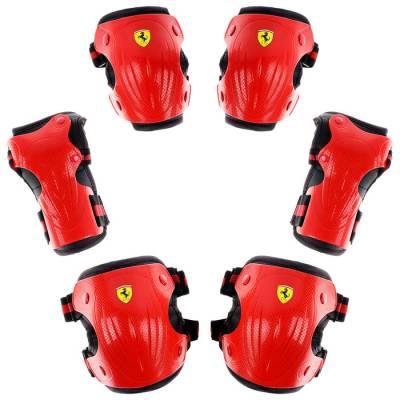 Защита роликовая FERRARI, р. L, цвет красный Ferrari