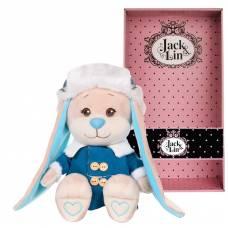 Мягкая игрушка Jack&Lin - Зайка в синей дубленке и шапке-ушанке, 25 см Maxitoys