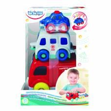 Игрушка Bebelino музыкальная пирамидка «Спасательные машинки» Bebelino Ltd.