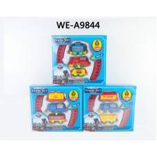 Железная дорога заводная, в коробке, 18х16,5х4 см Junfa Toys
