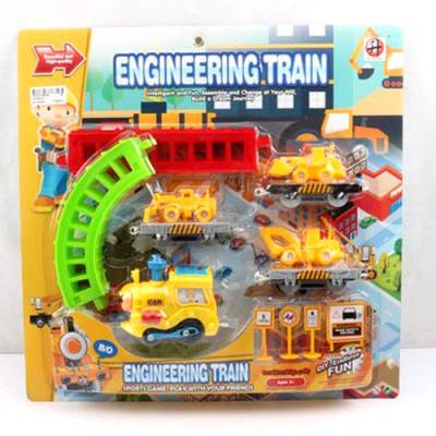 Железная дорога с техникой Engineering Train