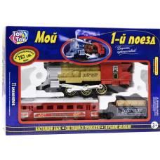 Железная дорога с дымом (световые, звуковые эффекты) Joy Toy