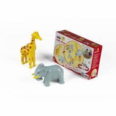Набор магнитных 3D пазлов Early Steps - Жираф и слон Klein