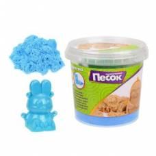 Кинетический песок 0,5 кг, цвет Синий, 3D формочка Color Puppy