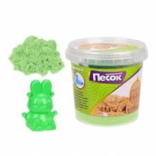 Кинетический песок 0,5 кг, цвет Зеленый, 3D формочка Color Puppy