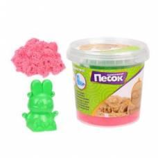 Кинетический песок 0,5 кг, цвет Розовый, 3D формочка Color Puppy