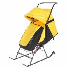 Санки-коляска Dami Baby, желтые Дэми